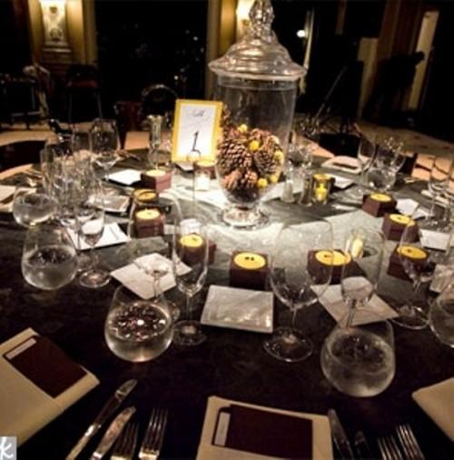 Dcoration Table Pour Un Mariage Hivernal