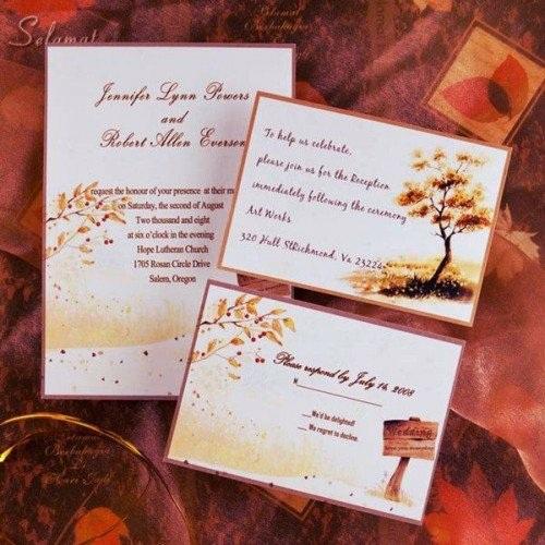 invitation mariage en automne 22 exemples