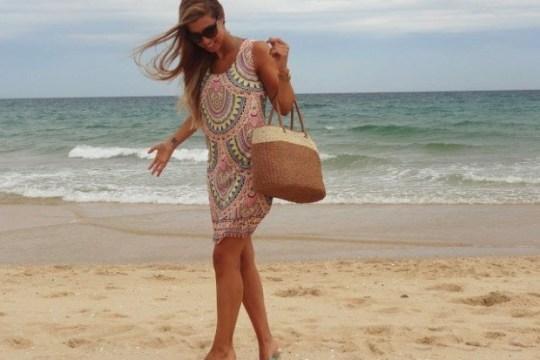 robe de plage courte multicolore