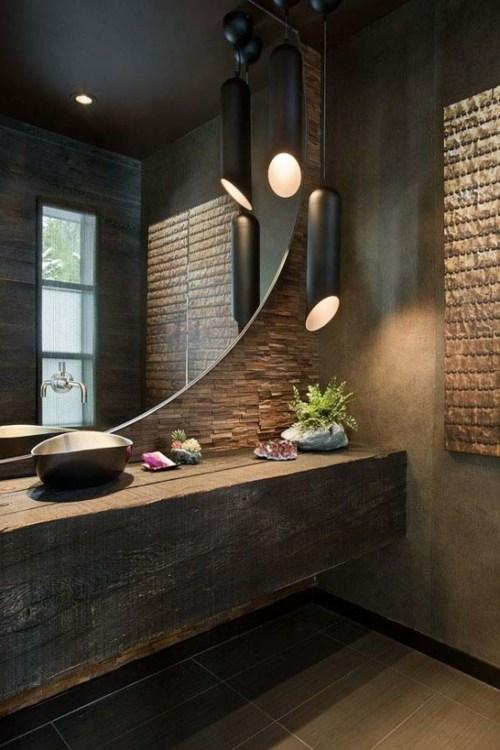 salle de bain et le style chalet rustique