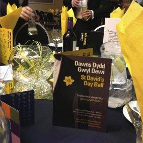 Ysgol Y Wern St Davids Day Menu and table setting