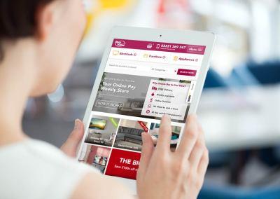 New homepage design – Tablet Portrait