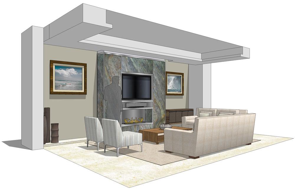 Penthouse Villa - Lounge 3D