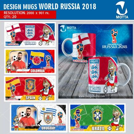 DESIGNS TO SUBLIMATE MUG FIFA WORLD RUSSIA 2018