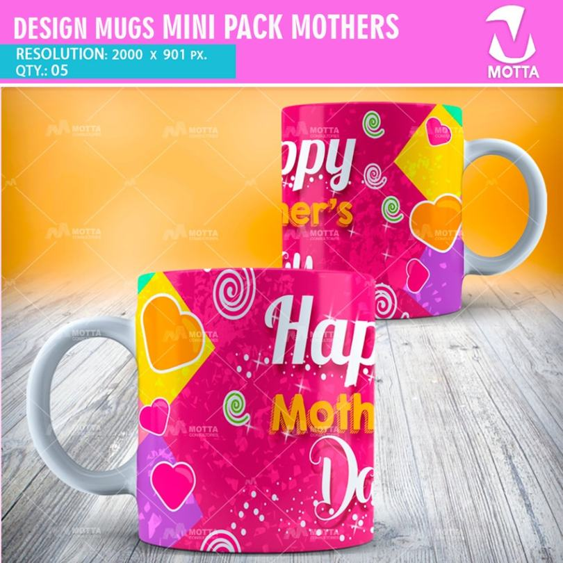 DESIGNS FOR SUBLIMATION MUGS MOTHERS #oneXfive