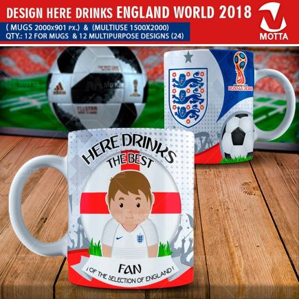 DESIGNS THE BEST FAN ENGLAND IN RUSSIA 2018