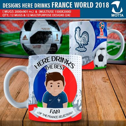 DESIGNS THE BEST FAN OF FRANCE IN RUSSIA 2018