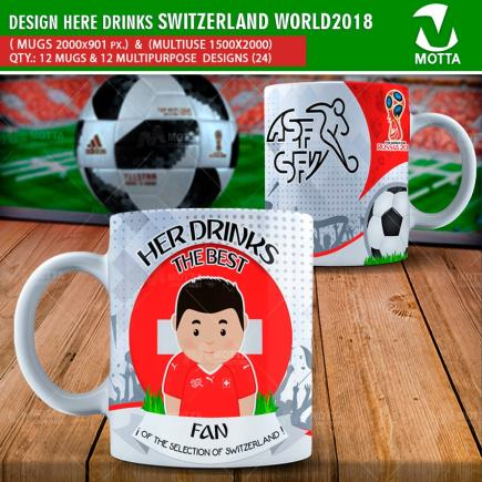 DESIGNS THE BEST FAN OF SWITZERLAND IN RUSSIA 2018