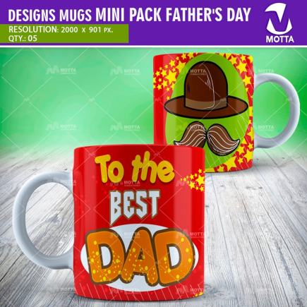 MUGS DESIGN FATHER'S DAY FOR SUBLIMATION