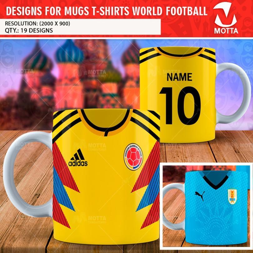 DESIGN FOR MUGS WORLD FOOTBALL T-SHIRTS