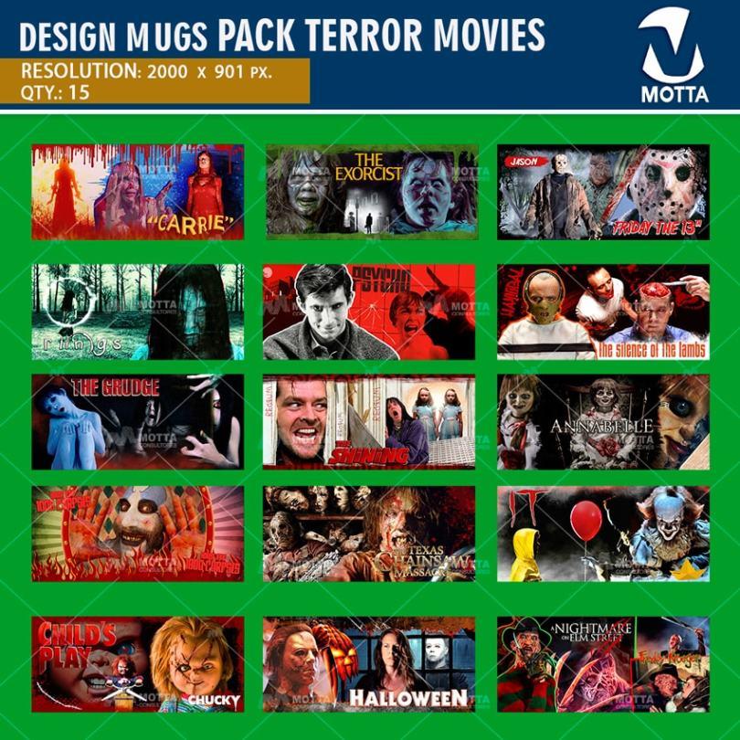 Designs to sublime MUGS MOVIES of Terror