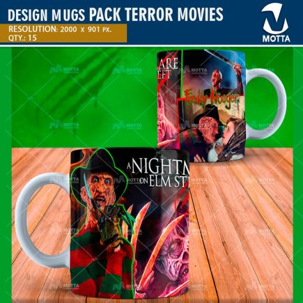 Designs to sublime MUGS MOVIES of Terror