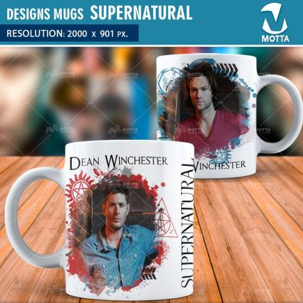 DESIGN FOR SUBLIMATION OF MUGS SUPERNATURAL