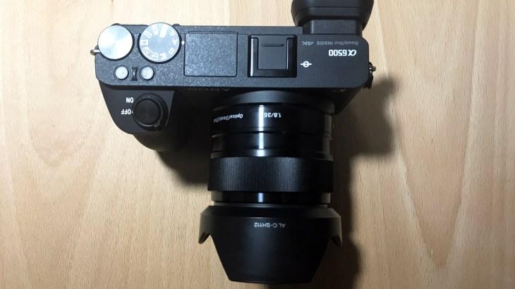 α6500に単焦点SEL35F18購入