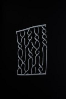 3D-printed textile by Ann Hughes