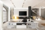 White Modern Living Room Design
