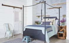 Blue Feature Wall Bedroom Ideas
