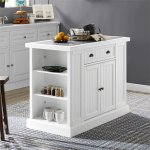 Seaside Kitchen Pantry In Distressed White Finish   Crosley Cf3103 Wh