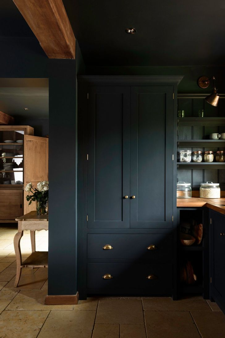 36+ Blue Kitchen Pantry Cabinets PNG