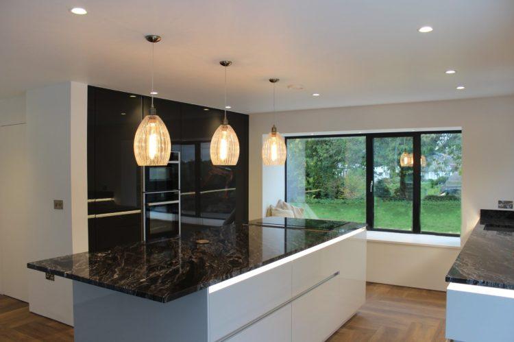 Modern High Gloss Kitchen Open Plan With Hidden Pantry Dekor Kitchens