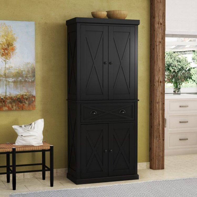 Gracie Oaks Mystic Wood Storage 73 Kitchen Pantry Reviews Wayfair