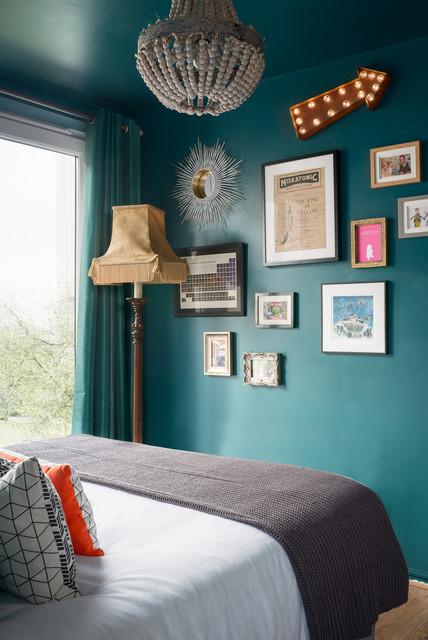Teal Bedroom Ideas Houzz Uk