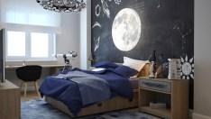 Black And Blue Bedroom Designs