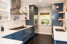 Blue Counter Kitchen Pantry