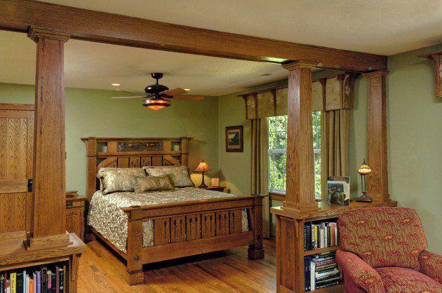 15 Beautiful Craftsman Bedroom Designs Craftsman Style Interiors Craftsman Interior Design Bungalow Interiors