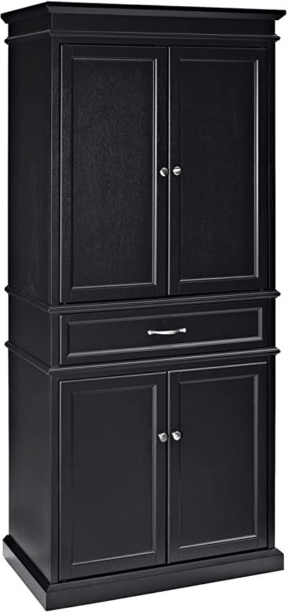 Amazon Com Crosley Furniture Parsons Pantry Cabinet Black Furniture Decor