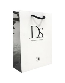 DS paper bag with matte lamination, side print and rope handles