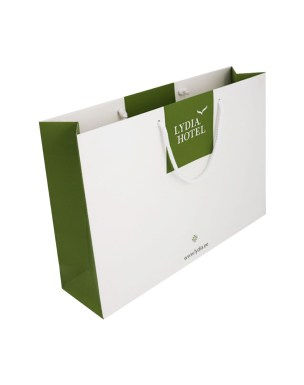 Lydia Hotel paper bag with matte lamination and rope handles