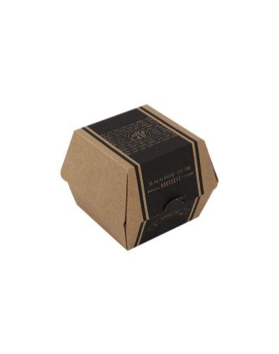 Cardboard burger box with print