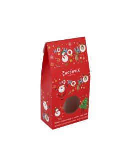 Laminated candy box with print and a window