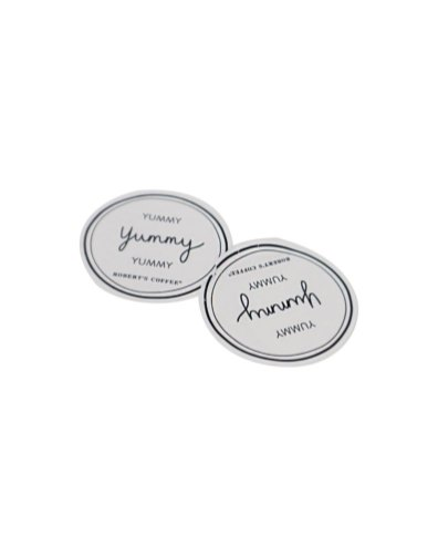 Robert's Coffee round stickers
