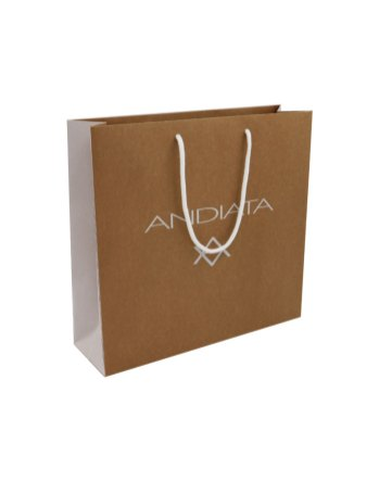 Brown kraft paper bag without lamination and side print