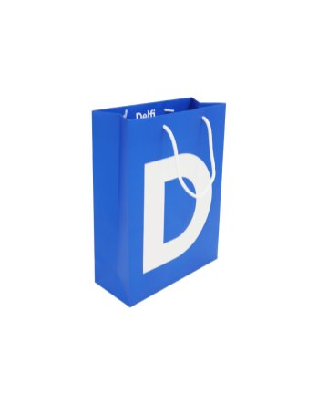 Delfi rope handle paper bag with UV lacquer