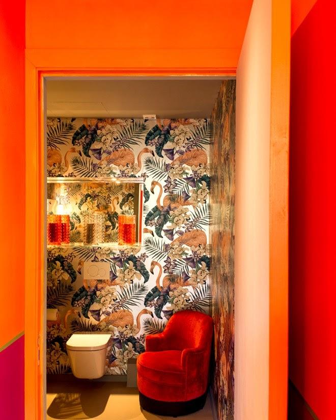 Fashion designer Matthew Williamson colorful and moody decor