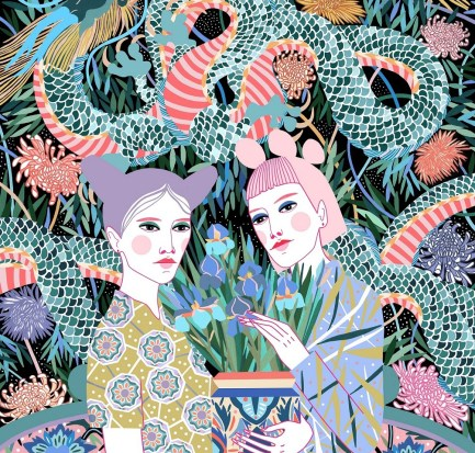 Illustrations from Sasha Ignatiadou- Design Peeper