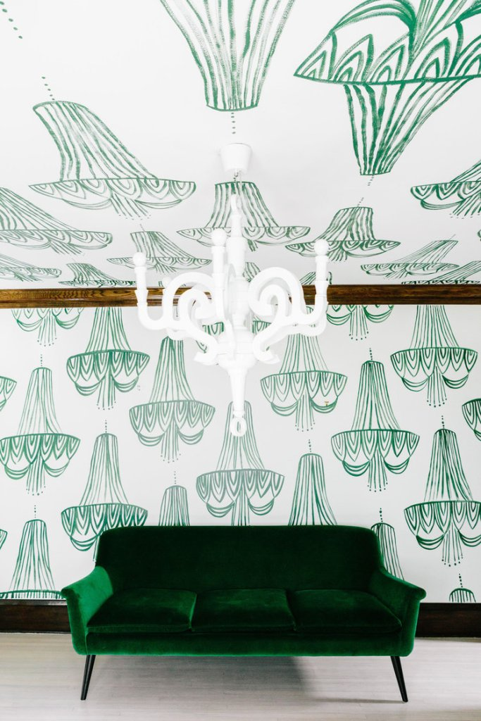 Chandelier wallpaper