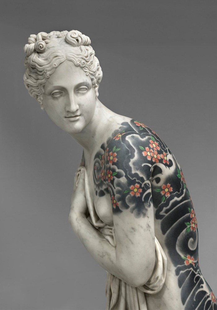 Italian Artist adds Tattoos to Classic Marble Sculptures