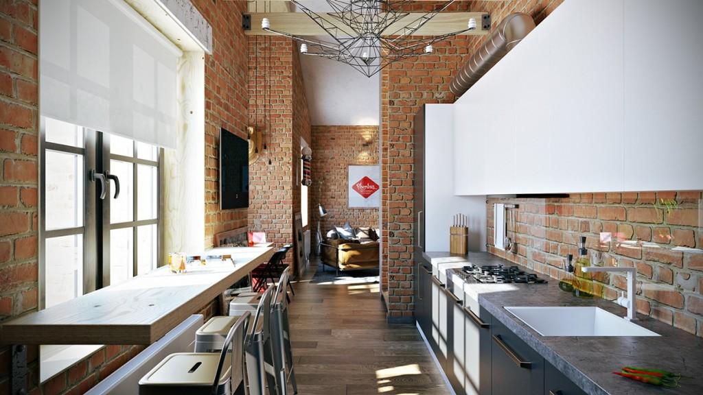 Loft Apartment By Pavel Vetrov Design