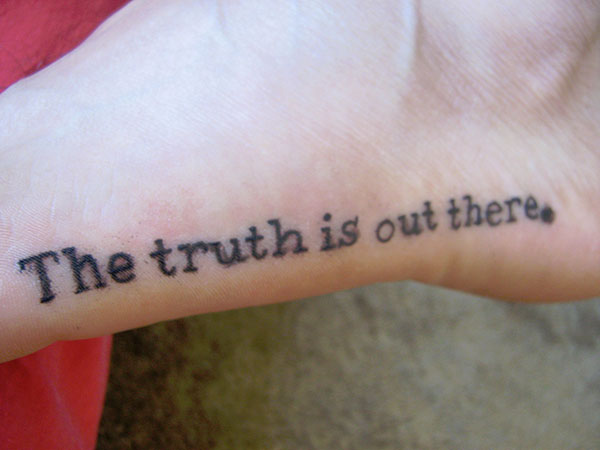 Image of: Girls The Ugly Truth Slodive Foot Tattoos Quotes 25 Refined Collections Design Press