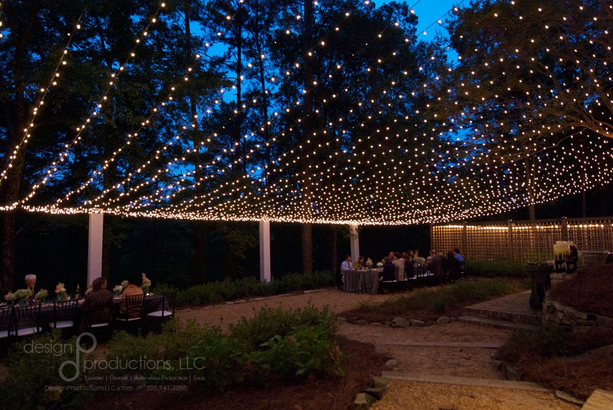 wedding lighting rental curtain