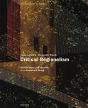 Jamie Mcghee: The book gives an insight into the theory of 'critical regionalism' and uses a series of interesting case studies to explore it's concepts. Discusses in great depth the notions of place, identity and context