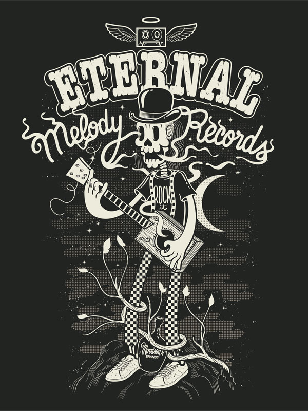 Eternal Melody records Brazilian Designer Inspiration