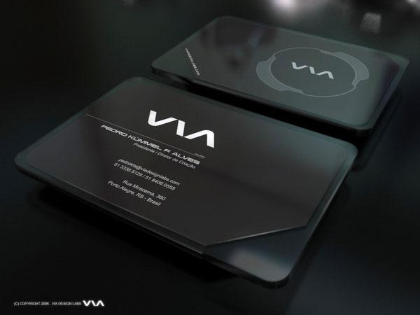 Via Business Card Brazilian Designer Inspiration