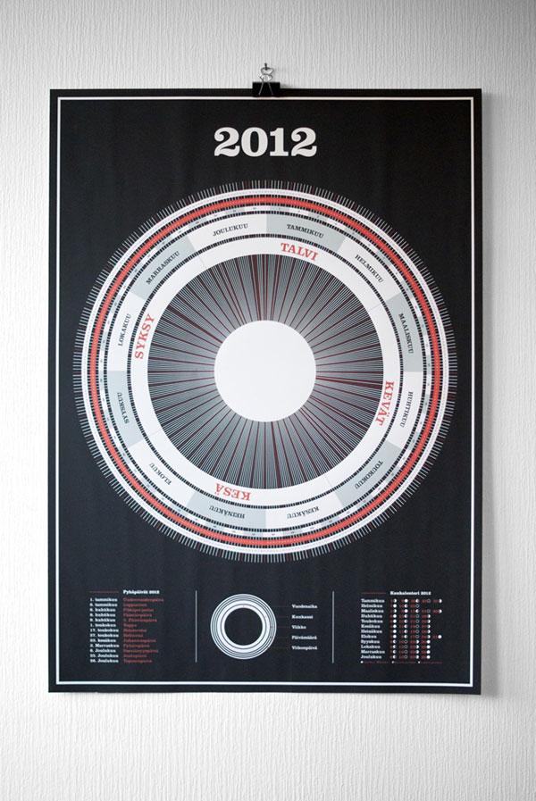 Poster Calendar 2012 Print Design Inspiration