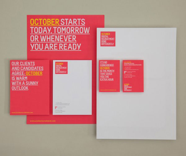 October Print Design Inspiration
