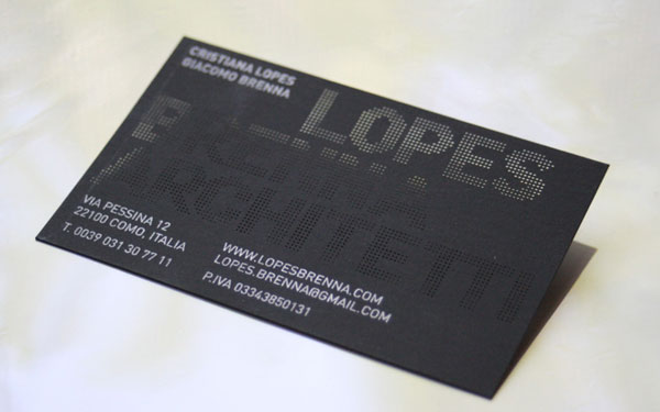 Lopes Brenna Architetti Business Card Print Design Inspiration